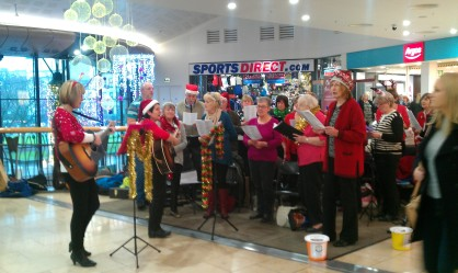 Carol Singing in the Overgate 2014